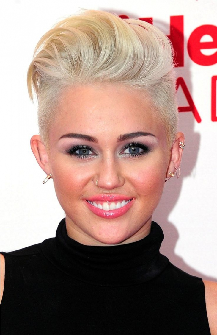 Miley Cyrus Combover Fade
