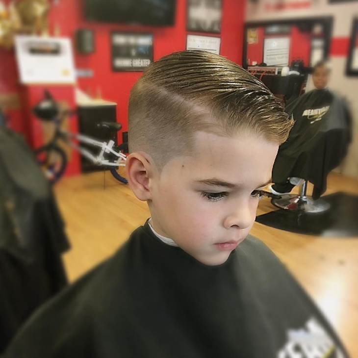 Kids Combover Fade Cut