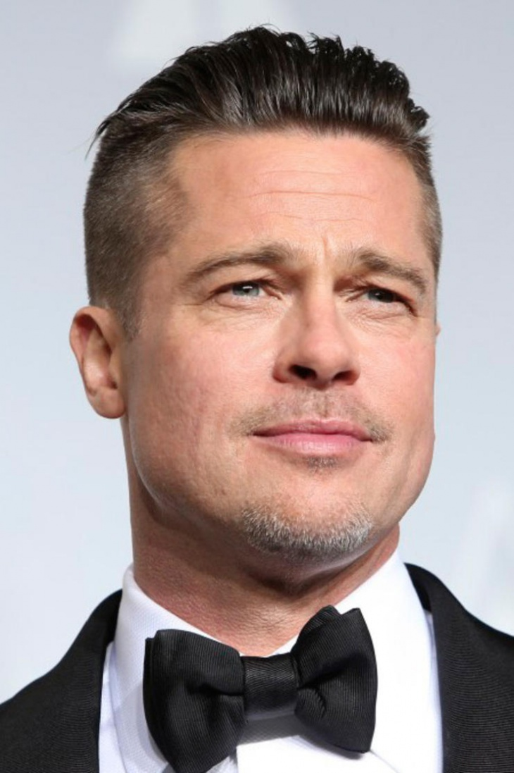 Brad Pitt Stacked Back Fade Hair