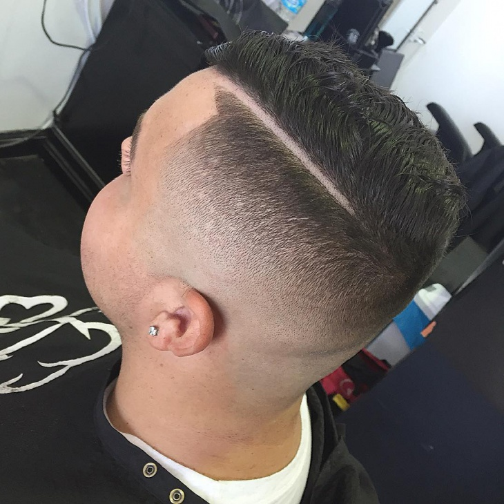 Clean Comb Over Fade Cut