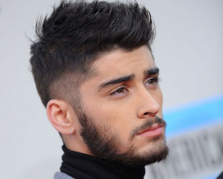 Zayn Mailk Brushed Combover Fade