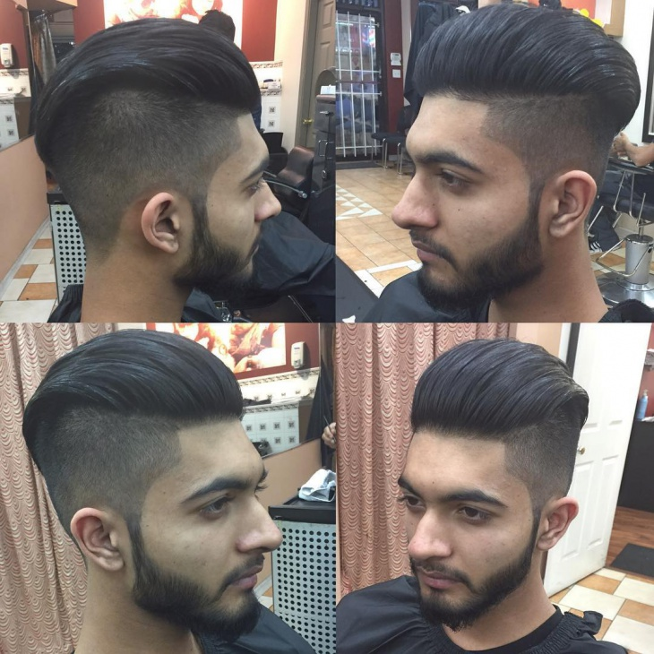 Medium Fade Comb Over
