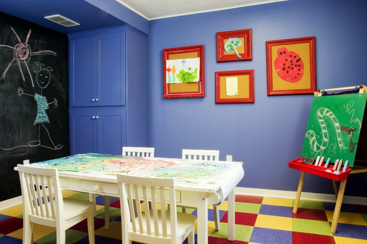 colorful kids study room