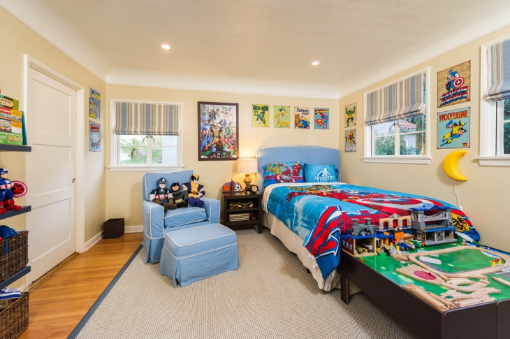 kids colorful bedroom design