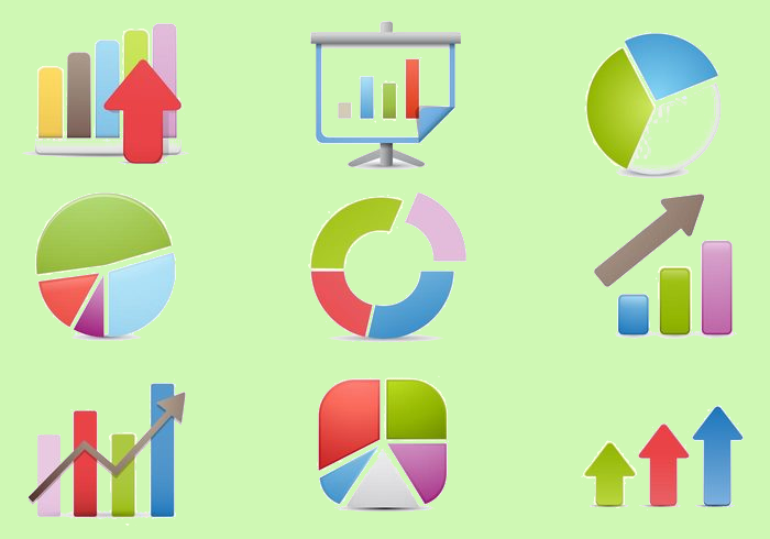 business chart icon set