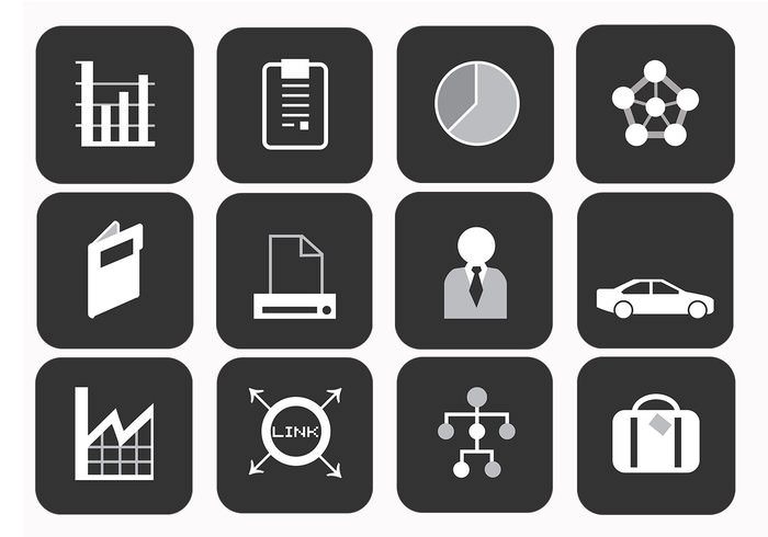business icons vector pack