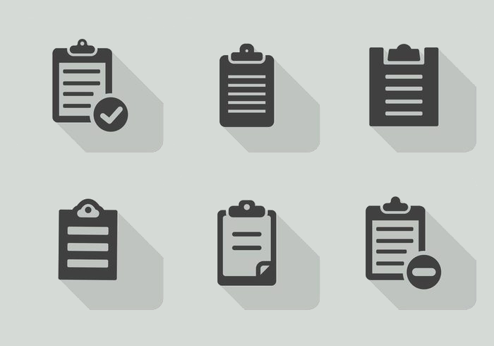 clipboard icon set