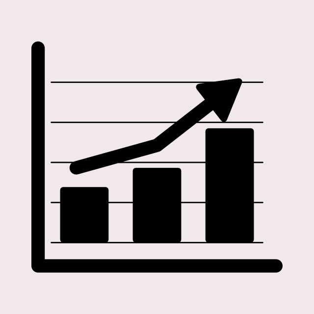 financial bar graph icon