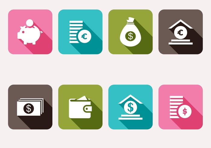 trendy money icons