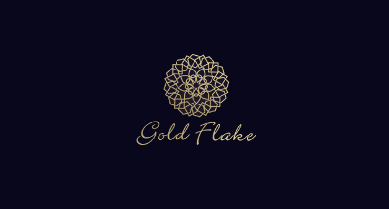 Beautiful Gold Flake Logo