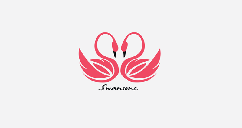 Swan Logo for Jewelry