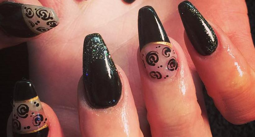 28 Black Stiletto Nail Art Designs Ideas Design Trends