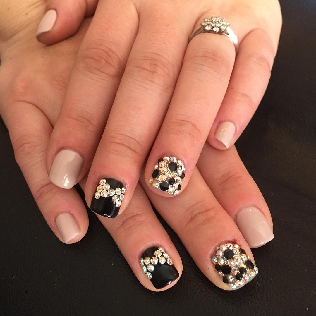 Nail design ideas with stones magnificent stone nail art designs nail design ideas with stones black stiletto nail art designs ideas design prinsesfo Choice Image
