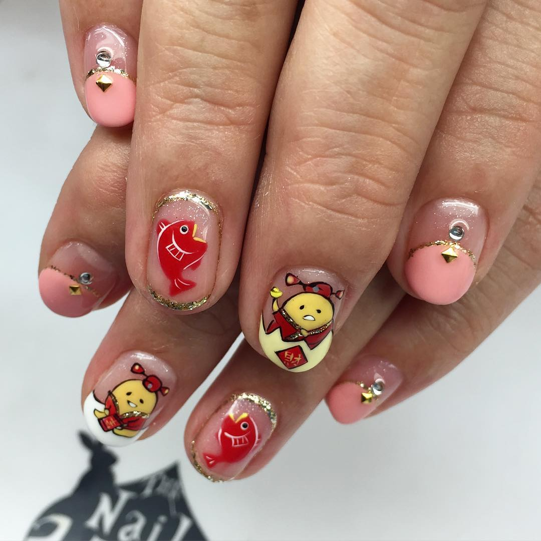 Attractive Cartoon Nail Art