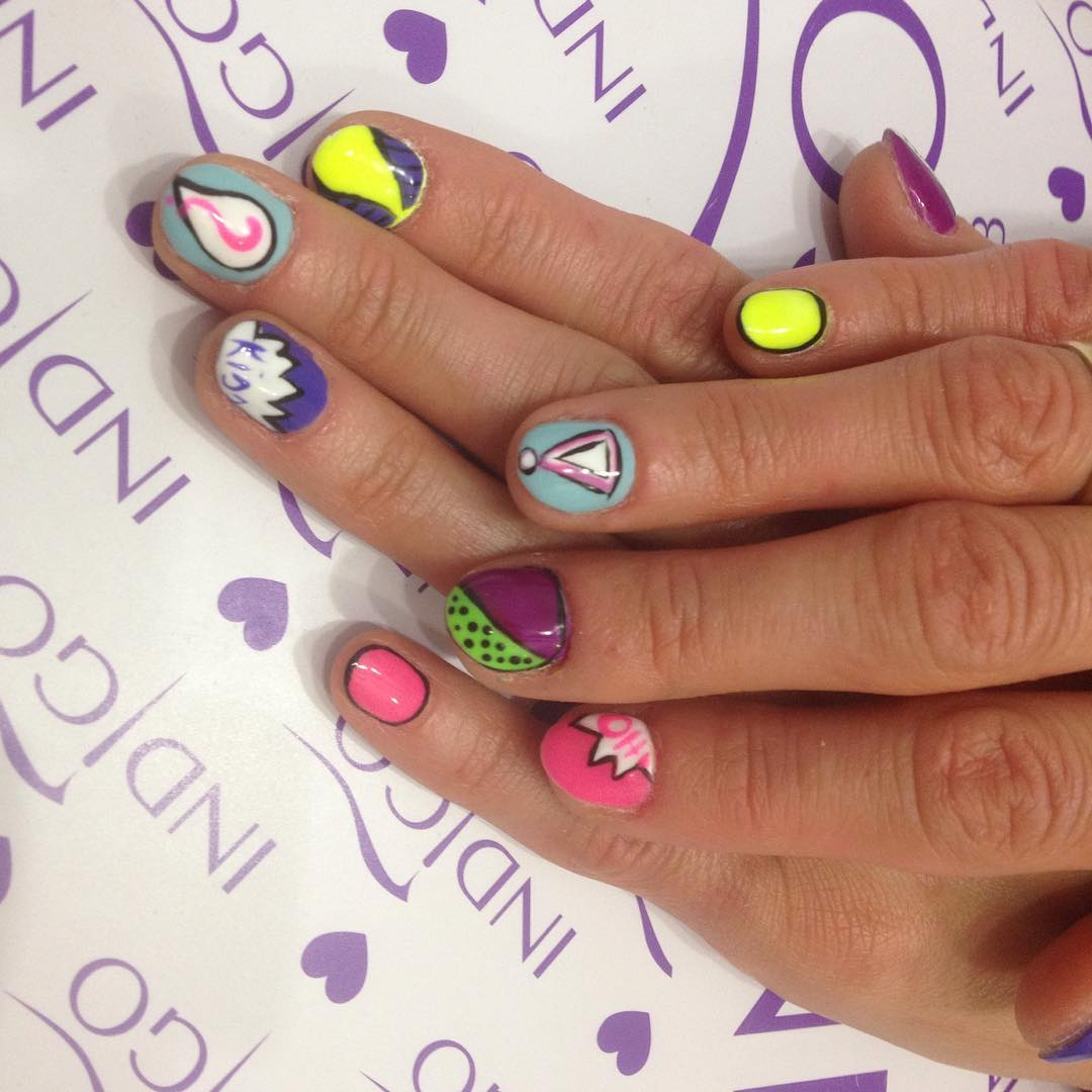 Cartoon Nail Design For Short Nails