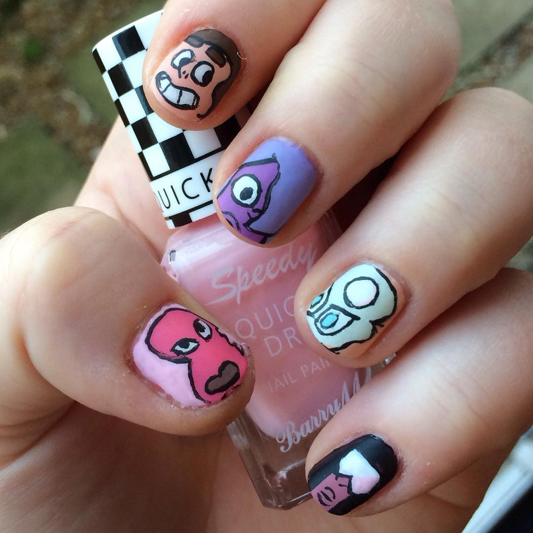 Cartoon Network Nail Art