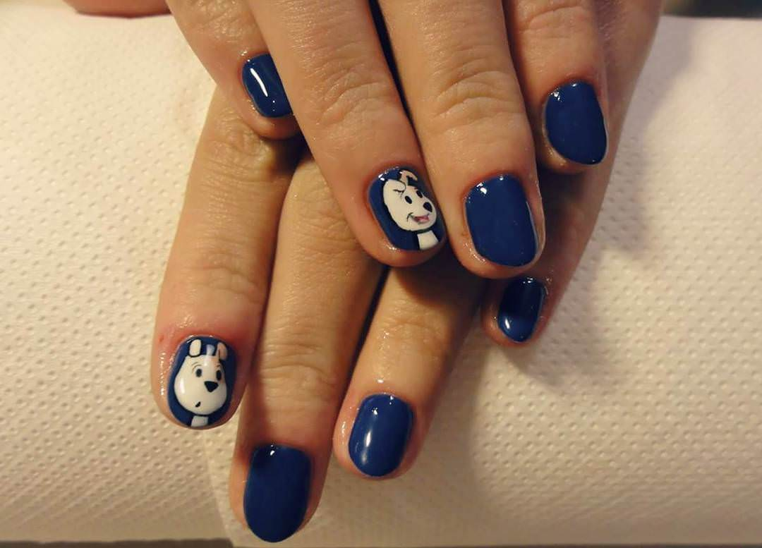 Dog Cartoon Nail Art