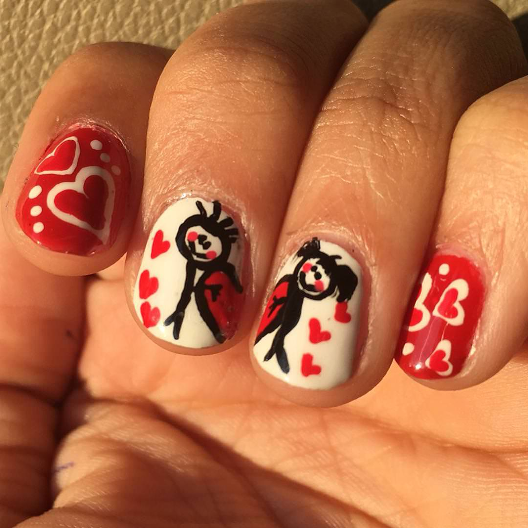 Heart Shaped Nail Design