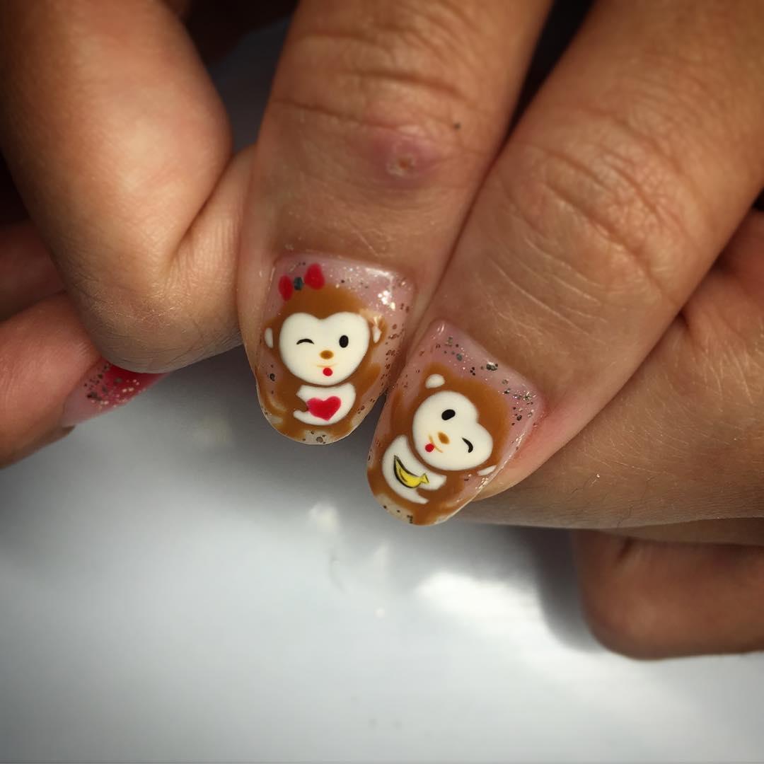 monkey nail design for women