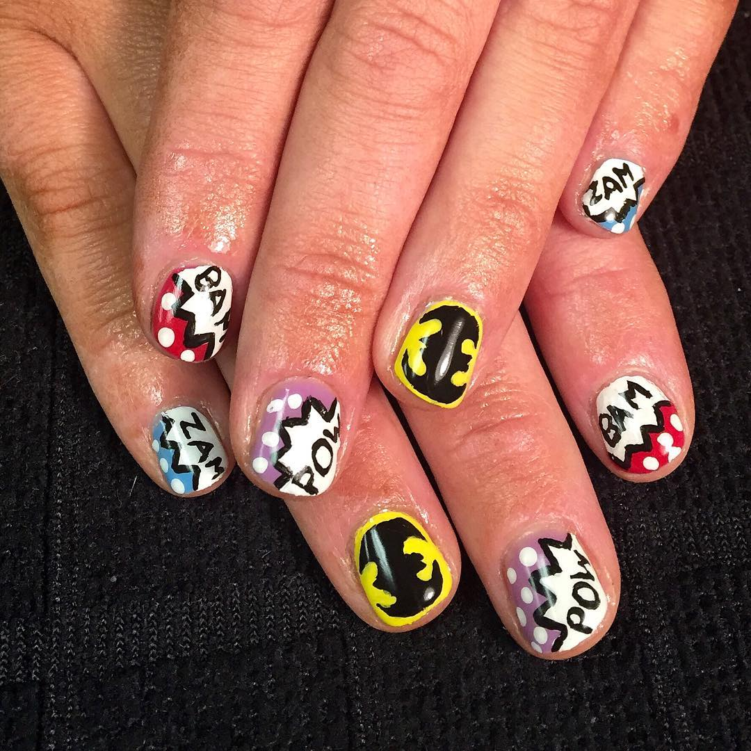 Simple And Stylish Cartoon Nail Design