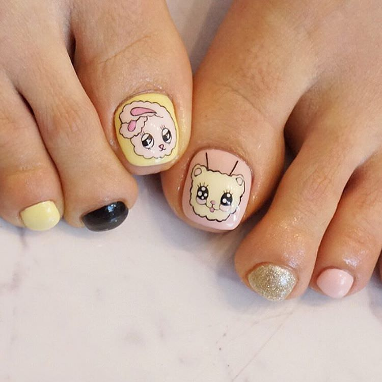 Unique Cartoon Nail Art