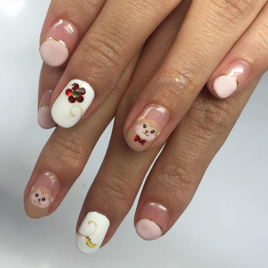 Women Love Cartoon Nail Design