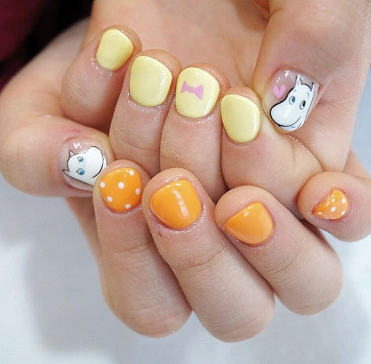 Yellow Nail Design For Women