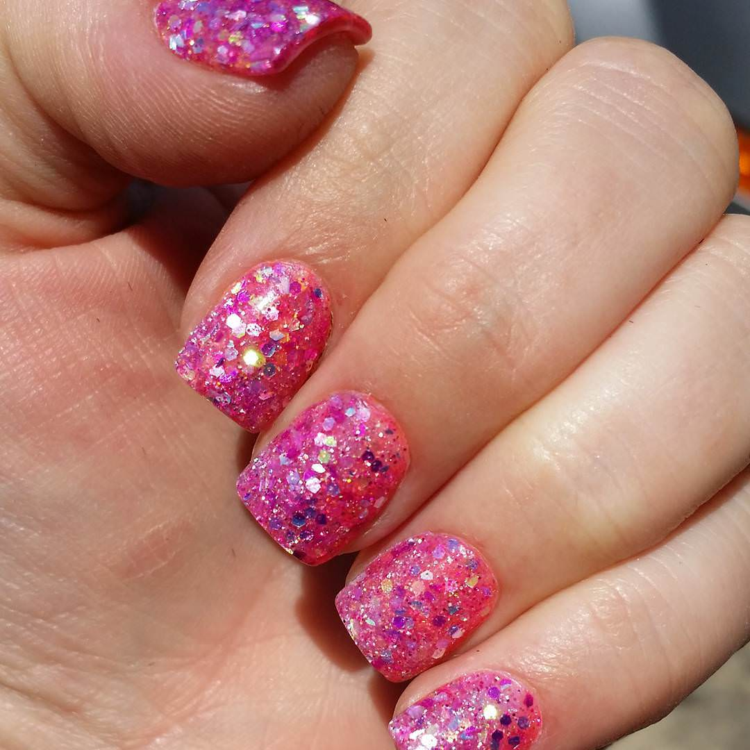 Pink Nail Art: 25+ Glitter Acrylic Nail Art Designs , Ideas