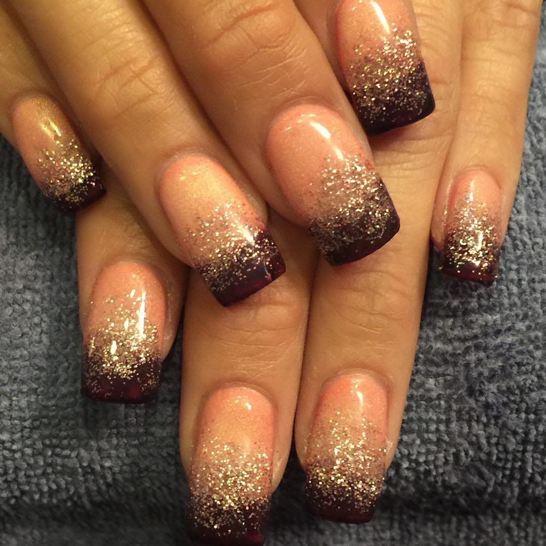 Unique Glitter Nail Art For Women