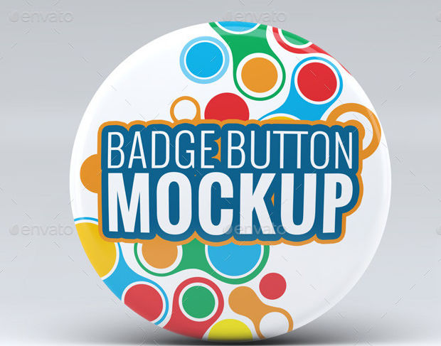 Funky Pin Button Badge Mockup