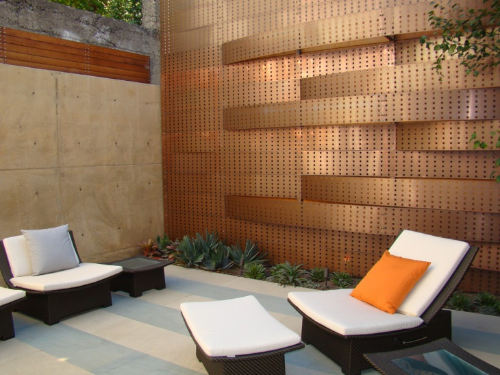 Outdoor Patio Metal Wall Design