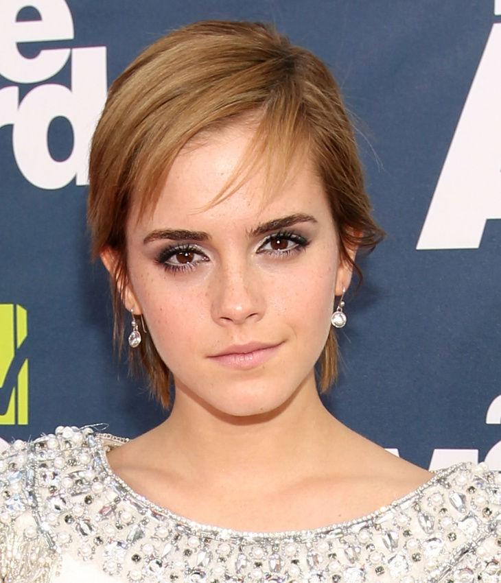 Emma Watson Long Pixie Hair