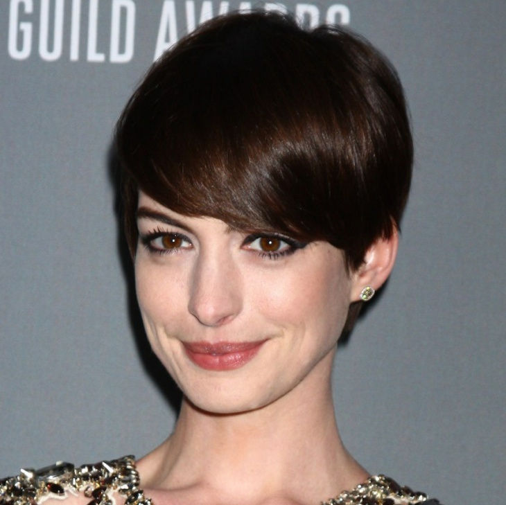 Anna Hathaway Long Pixie Hair