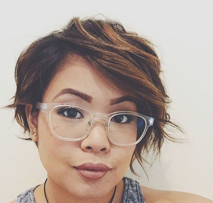 Asymmetric Long Pixie Hair