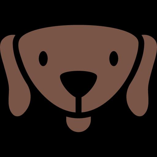 funny dog head icon