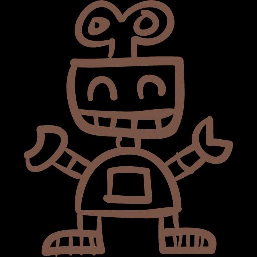funny robot icon