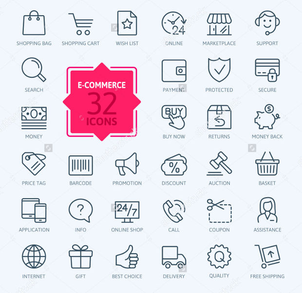Shopping and Ecommerce Web Icons
