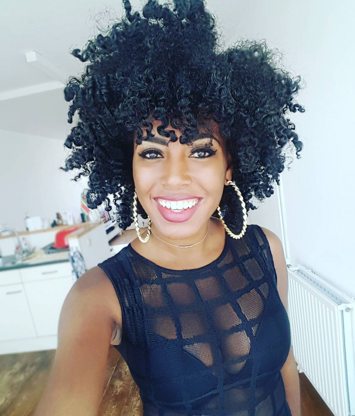 Naturall Curly Black Hair Idea