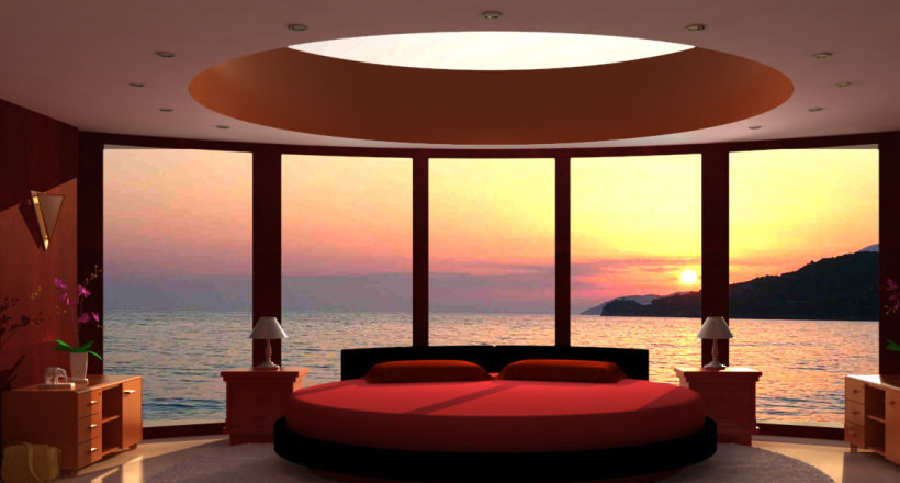 Round BedRoom Designs , Decorating Ideas | Design Trends - Premium ...