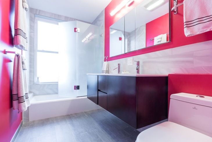Teens Pink Bathroom Design