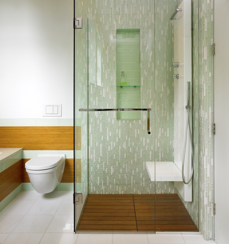 Green and White Bathroom Tiles. 20  Small Bathroom Tile Designs  Decorating Ideas   Design Trends