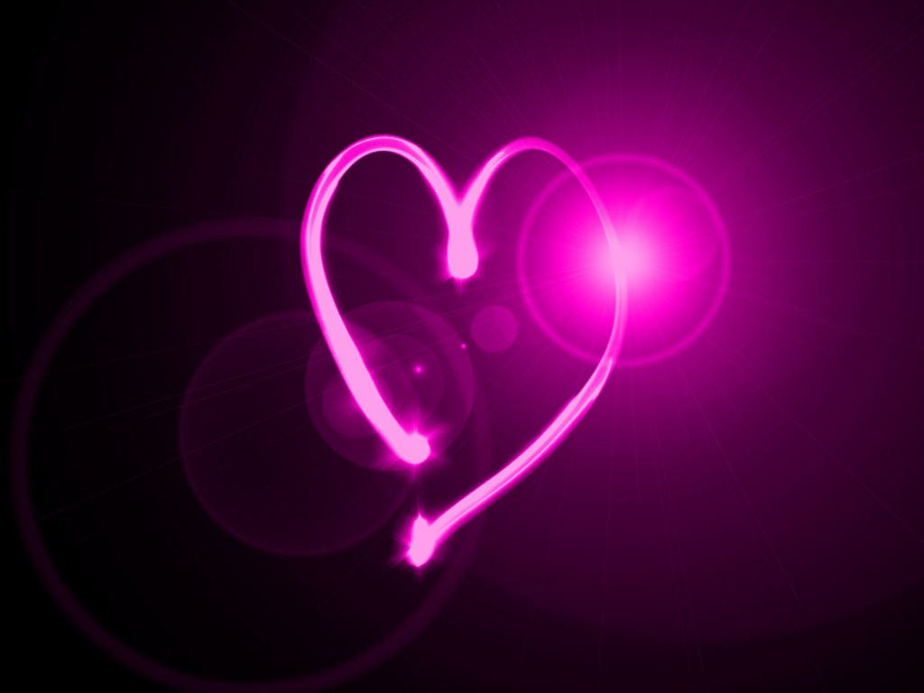 heart shaped neon background