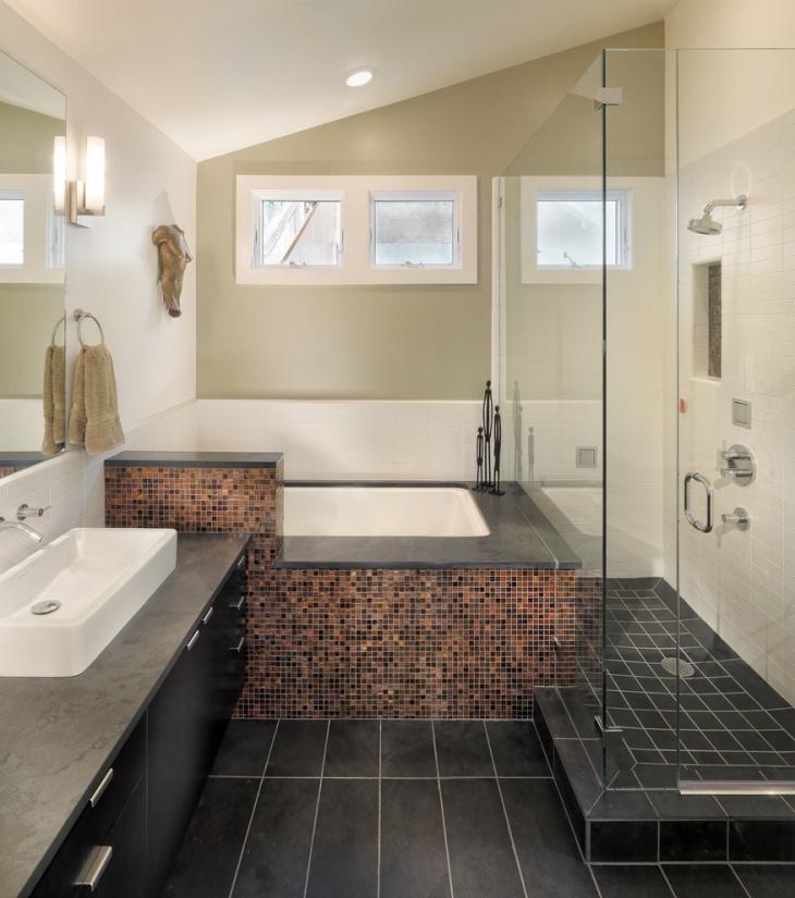 Colorful Tile Designs For Bath Tub