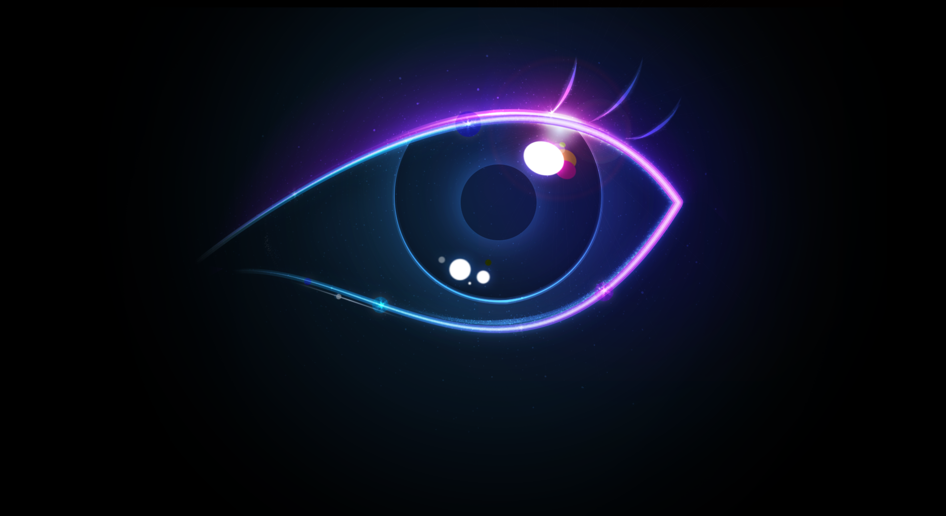 Neon Eye Background