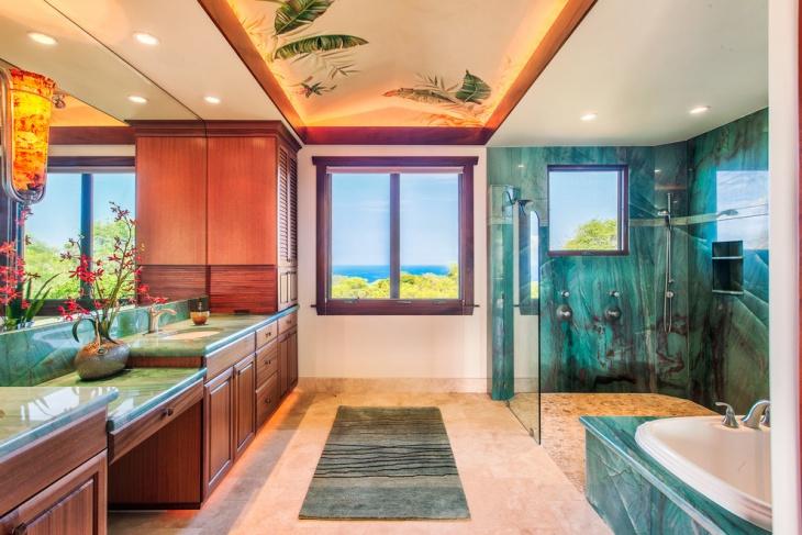 Wonderful Tropical Themed Bathroom Idea Part 20