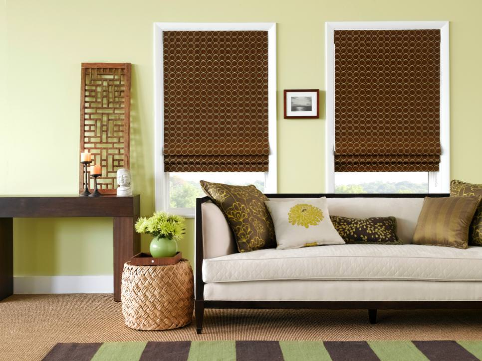 21 green living room designs decorating ideas design for Living room blinds