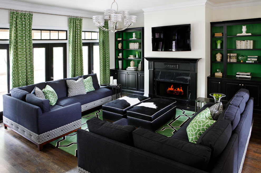 21 green living room designs decorating ideas design for Green living room ideas