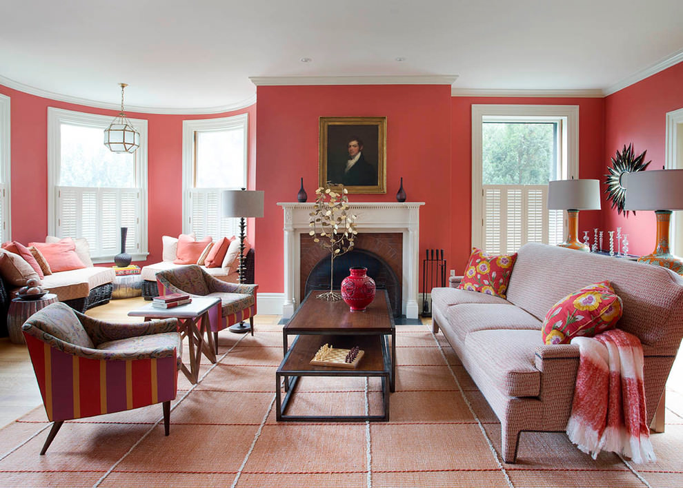 Awesome red living room