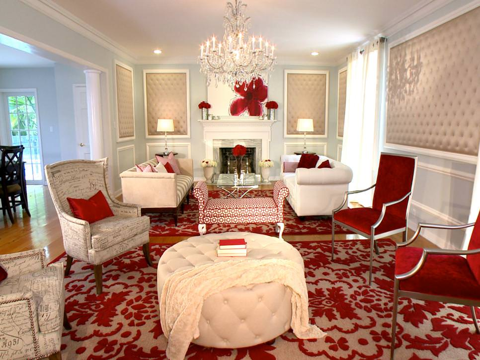 25 red living room designs decorating ideas design for David hgtv designer