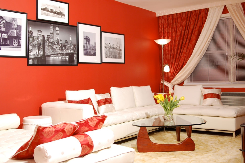 Ravishing Red contemporary living room